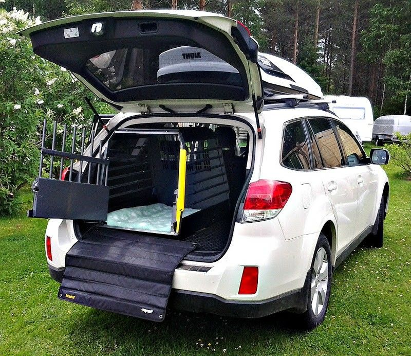 A Forumn On How A Subaru Outback Owner Was Able To Get A Dog Cage Big Enough For A Large Sized Dog Fit In The Back Of Their 4th Subaru Outback
