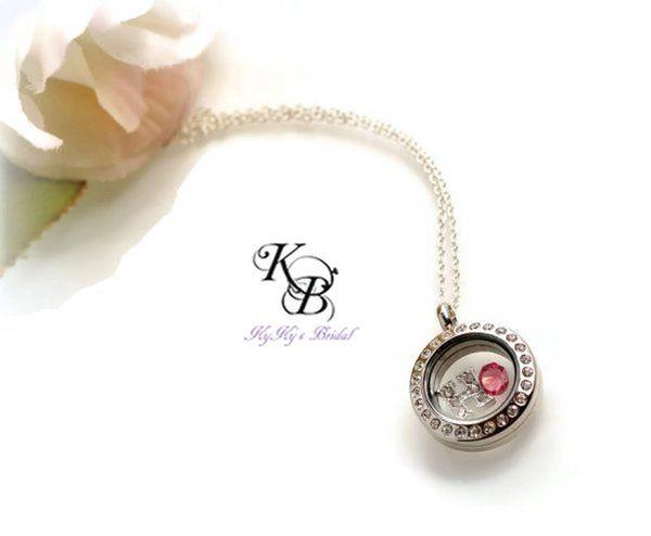Personalized Flower Girl Necklace, Floating Locket Necklace, Flower Girl Gift, Flower Girl Locket, Memory Locket, Little Girl Locket | KyKy's Bridal, Handmade Bridal Jewelry, Wedding Jewelry