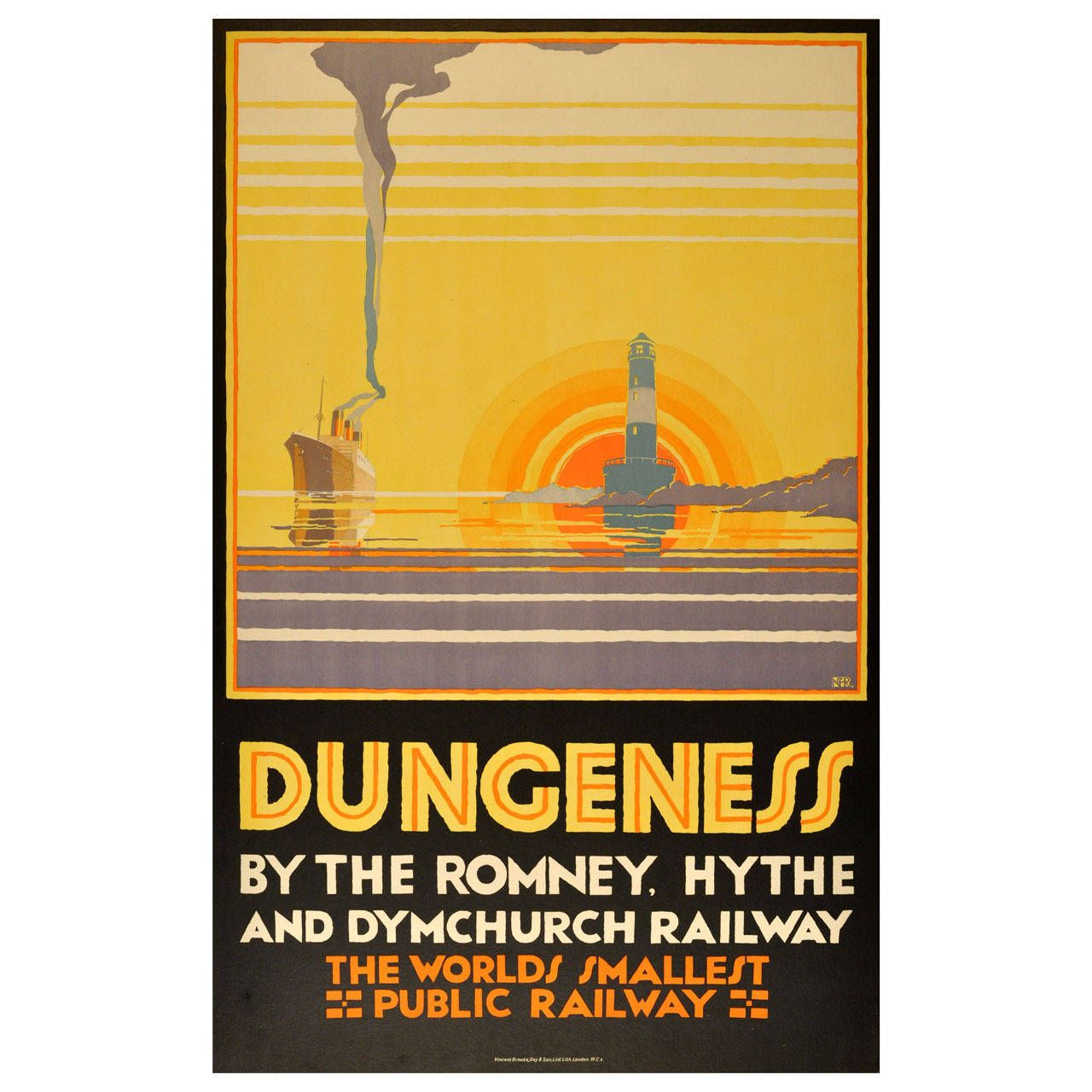 Original Vintage Poster: Dungeness Kent by the Romney, Hythe and ...