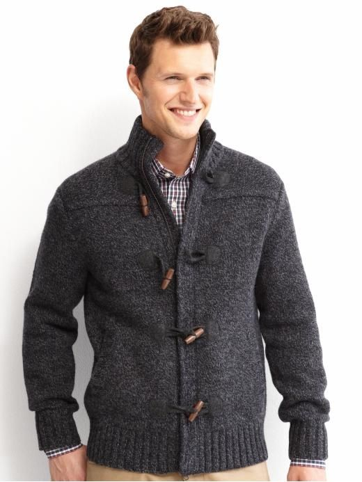 570a9d641e6af4 bananarepublic mens carnagan | Banana Republic Wool/Cashmere Toggle Sweater  | Un-iform