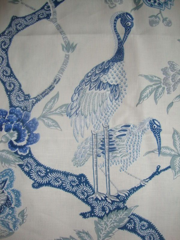 2.25m SCHUMACHER Arbre Chinois linen curtain fabric