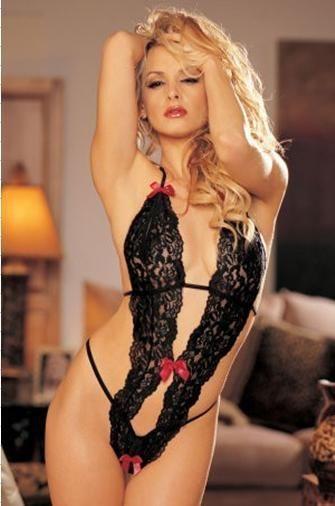 ef0c268120c28 New Women Hot Sexy Lady Lace Corset Sleepwear Bustier Intimates Black G  String J
