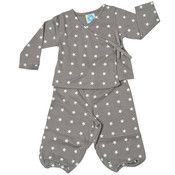 grey/white stars.. organic cotton set..