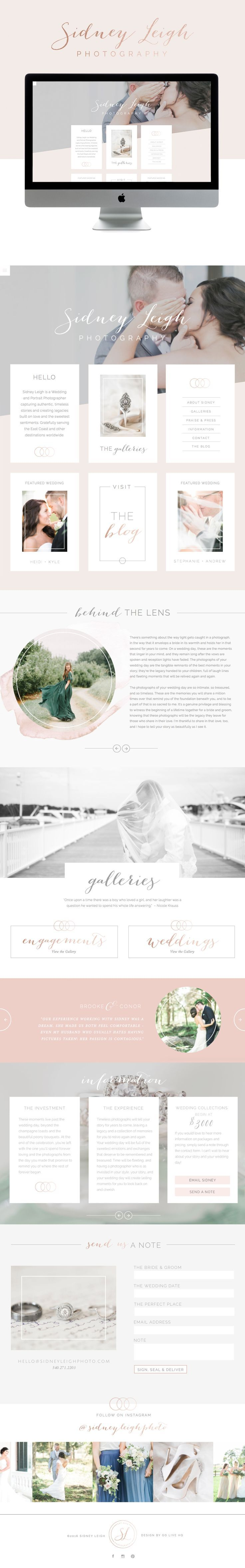 light and timeless #squarespace #website design | design by; golivehq.co