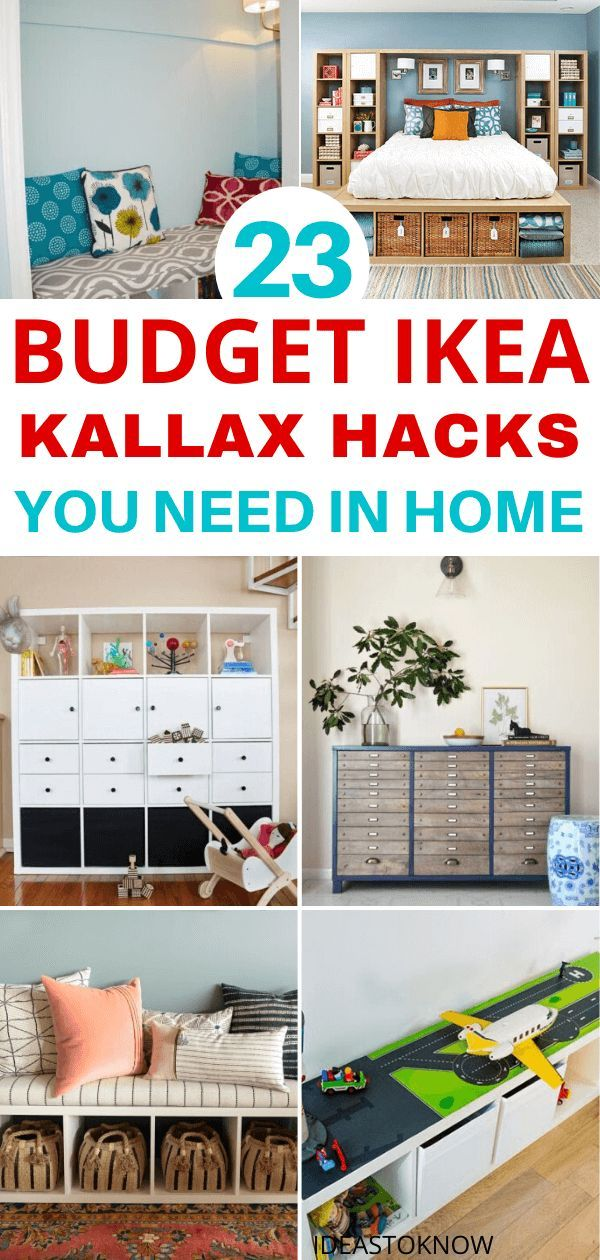 These inspiring IKEA Kallax hacks can help you build a variety of setups from animal hunches to bar karts and are low budget ideas. It will save you a whole lot of money and you can also replace parts or repaint them anytime it gets ruined. Choose from these 23 IKEA Kallax remodeling ideas and make the one that fits your needs and budget. #ikea #kallax #homedecor