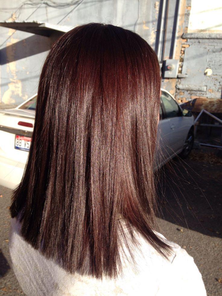 Haarfarbe warmes dunkelbraun