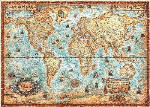 World map jigsaw puzzle game searches puzzles pinterest 3000 pieces world map jigsaw puzzle from heye decorate your space with pictures of puzzles you love gumiabroncs Images