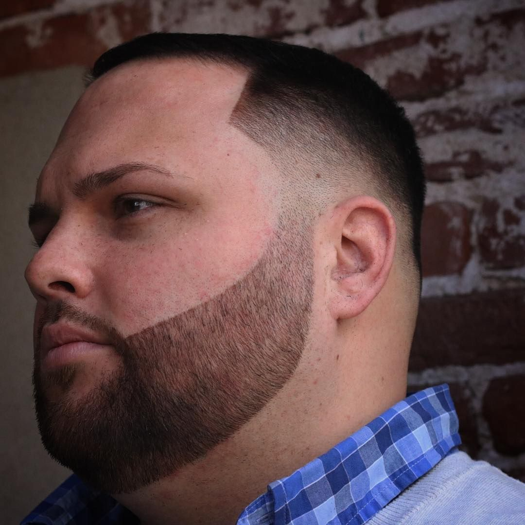 sharp and bold haircuts for fat faces with beard | cool