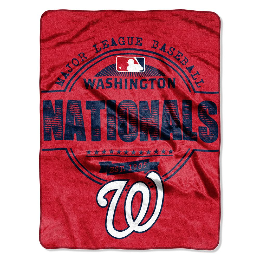 Washington Nationals MLB Micro Raschel Blanket (Structure Series) (46in x 60in)