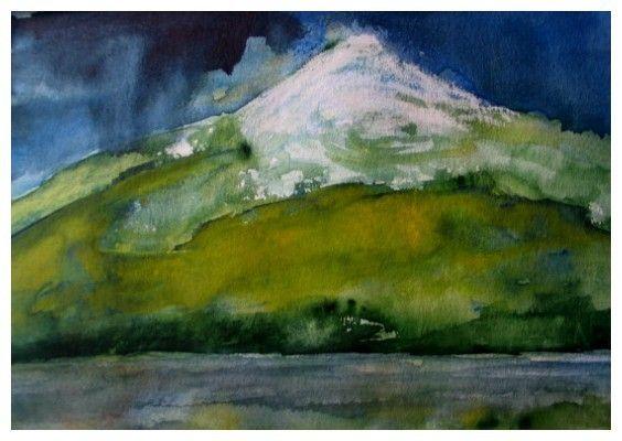 Chile, Osorno, Aquarell 40x60 cm