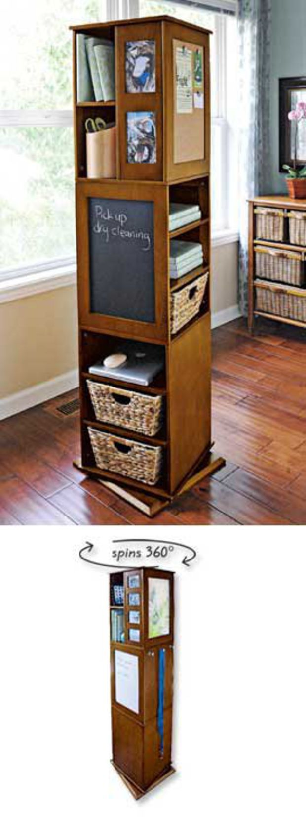 Perfect Swivel Cabinet, Spinning Storage Rack, 4 Sided Swivel Cabinet | Solutions