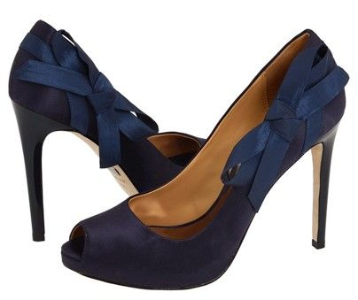 Blue Bow Shoes Navy Wedding