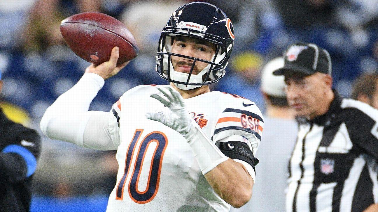 Bears QB Mitchell Trubisky hits nice overtheshoulder TD