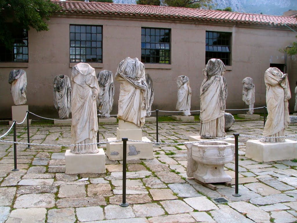 outside the Corinth museum