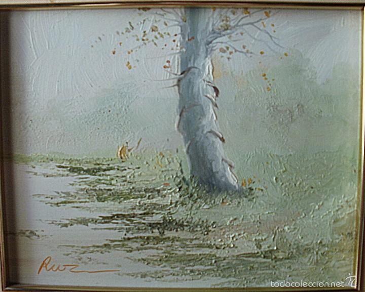 EL ÁRBOL - ÓLEO SOBRE TABLA LIENZO 18*23 - RUZ (Arte - Pintura - Pintura al Óleo Contemporánea )