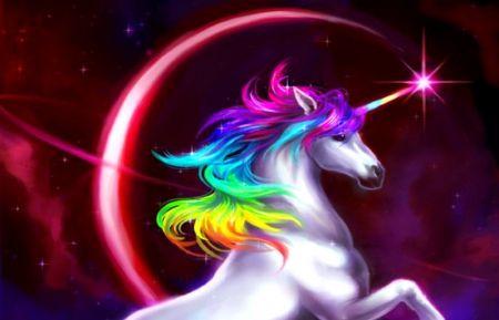 Rainbow Unicorn Unicorn White Blue Pink Yellow Animal