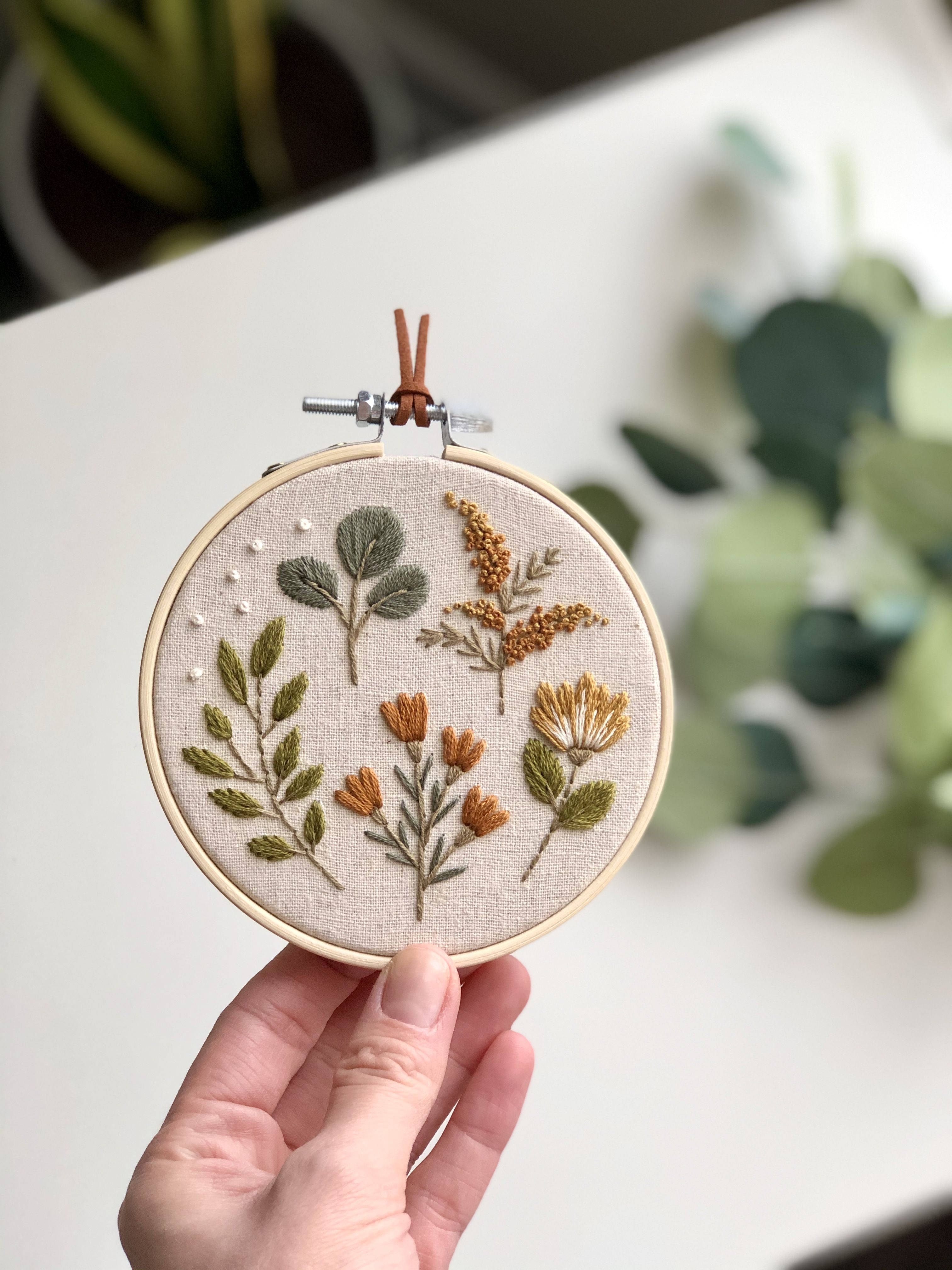 Photo of Botanical hand embroidery hoop