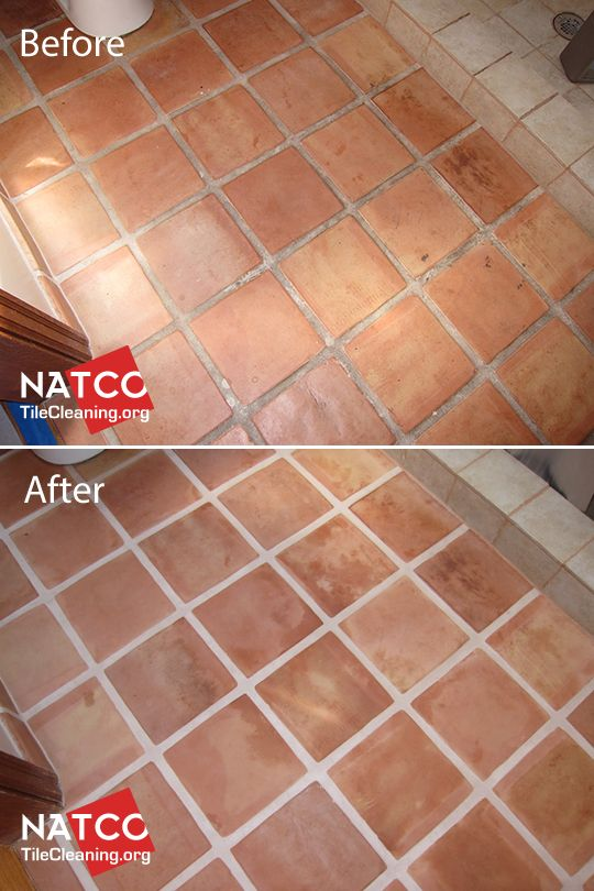 Stripping And Sealing Of A Saltillo Tile Floor Painting