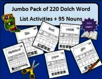 word activities bundle for Preprimer3rd grade levelsMultiple years of Dolch word activities bundle for Preprimer3rd grade levels This is a 20 question web search document...