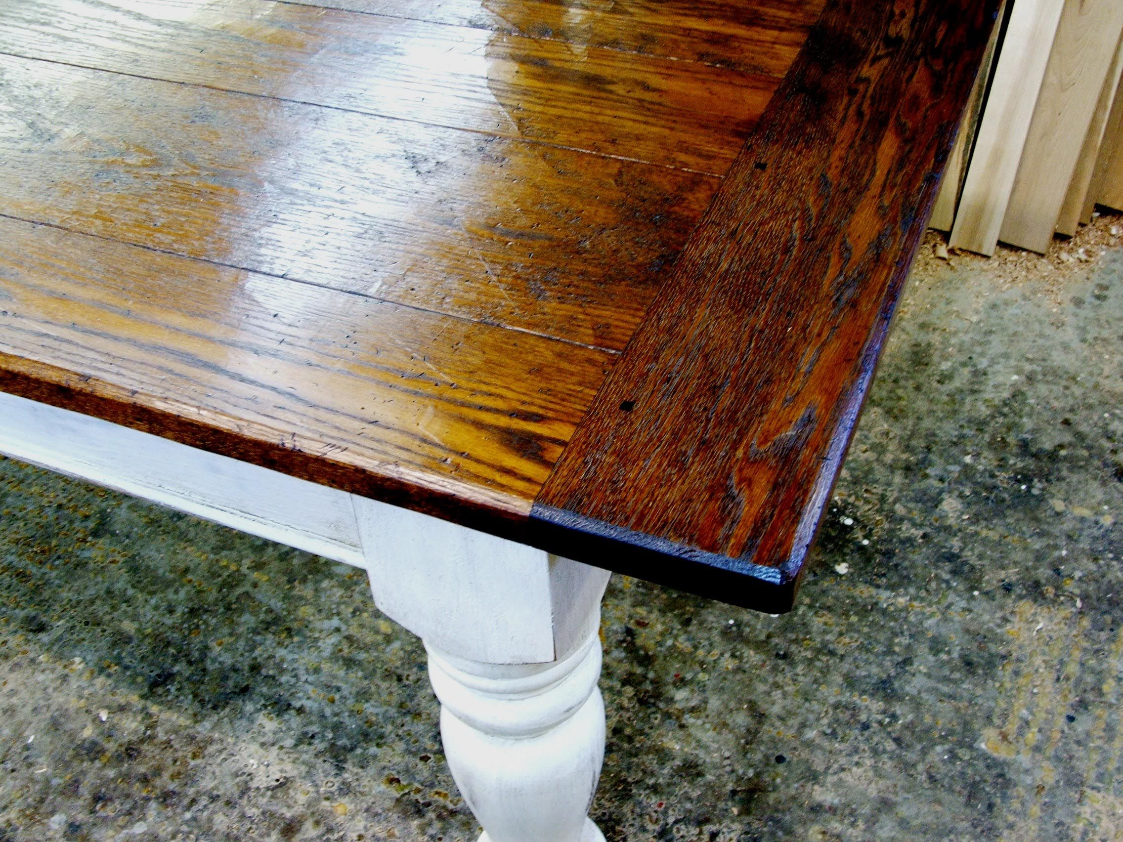 Stained Top And White Painted Bottom Did This With My End