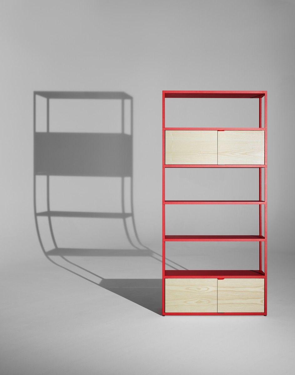 new order boekenkast met deuren 100 cm charcoal hay