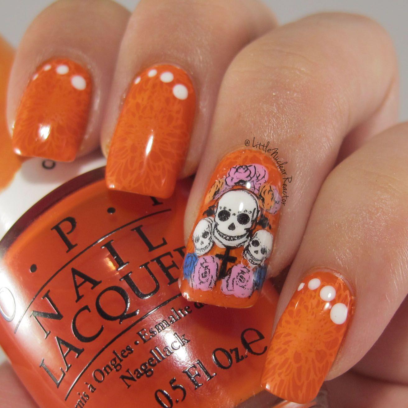 Dia De Los Muertos (Day of the Dead) Nail Art | Dia de and Manicure