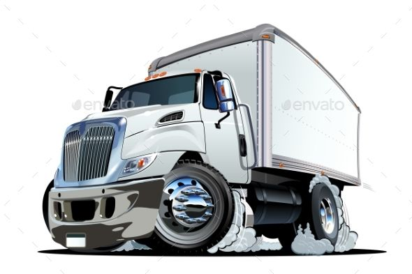 Cartoon Delivery Or Cargo Truck With Images Trucks Train