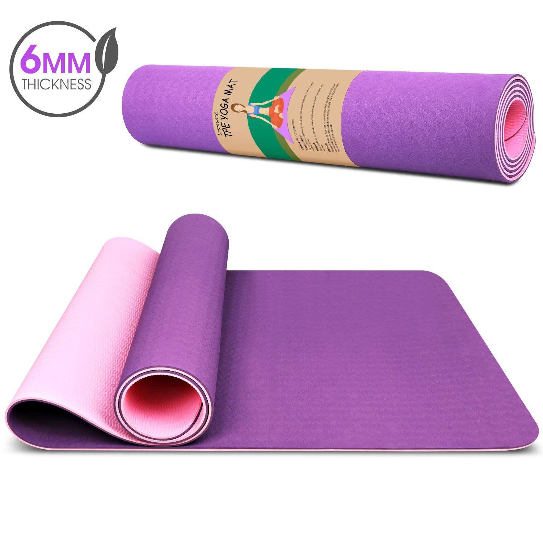 Dralegend Yoga Mat Exercise Fitness Mat High Density Non Slip Workout Mat Classic 1 4 Inch In 2020 Mat Exercises Pilates Workout Yoga Mat