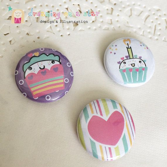 Super cute Kawaii Magnets by Dreaming on a Star