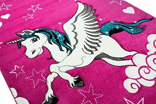 Girls Pink Unicorn Rug Size 80 X 150cm In 2018 Zeeee Pinterest