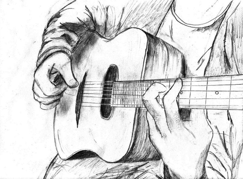 картинки карандашом про гитариста полагают, что