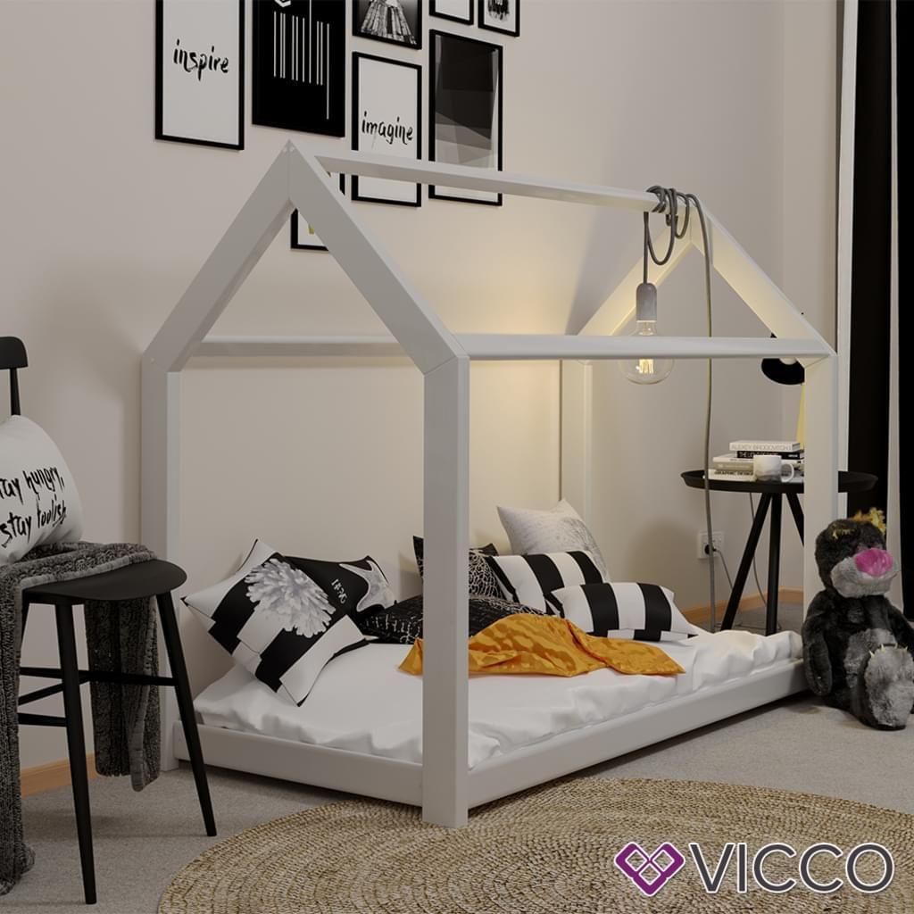 Kinderbett Vicco Kinderbett Kinderhaus Weiss 80 X160 Cm Kinder Bett