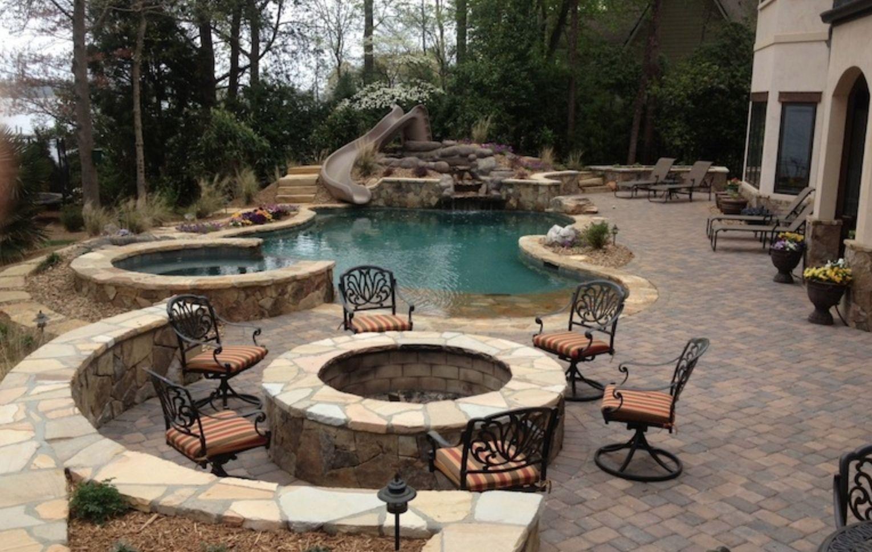 Inground Pool Patio Ideas | Patio Decor | Pinterest | Patios and ...