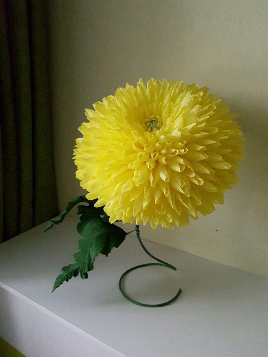 Как сделать большие объемные цветы своими руками
