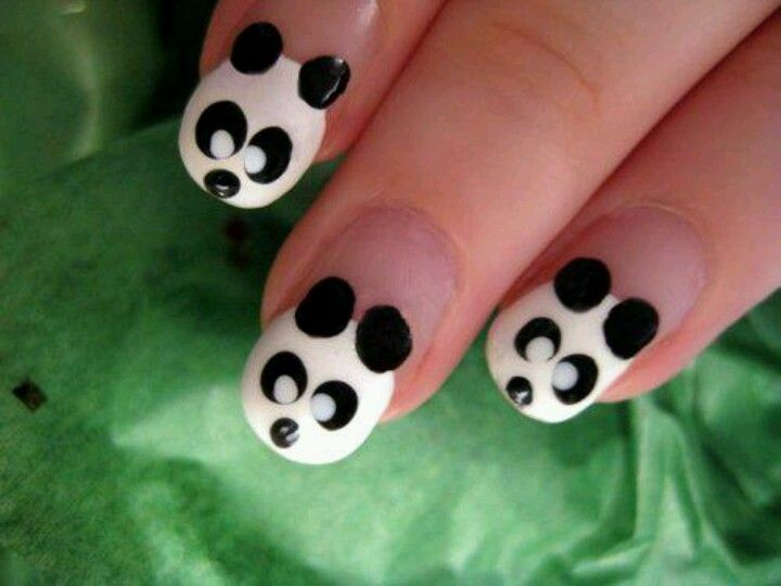 uñas de oso panda | nails | Pinterest | Uñas de oso panda, Uñas de ...