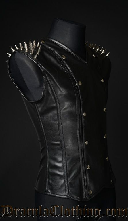 Spiked Leather V-Shaper