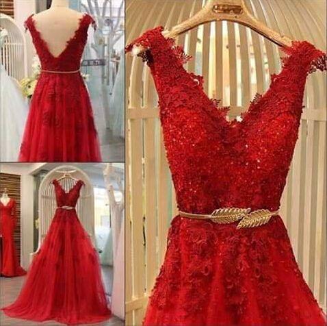 abendkleider 2016 Amazing Burgundy robe de soiree vestidos de fiesta Appliques…