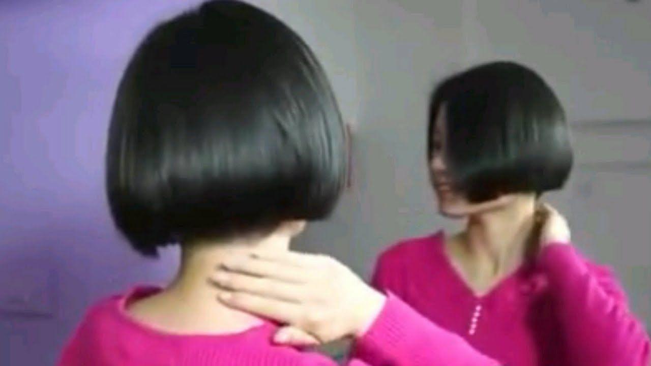 Makeover Long To Short Bob Hair Extreme Hair Cut Bob 16103