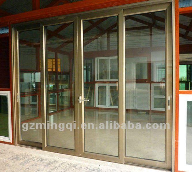 Guangzhou color champagne puertas correderas de aluminio y for Colores de aluminio para ventanas