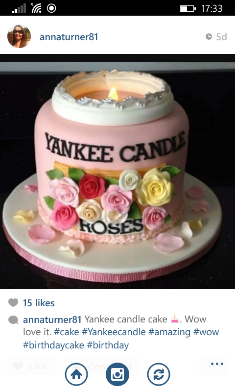 My Yankee Candle Cake