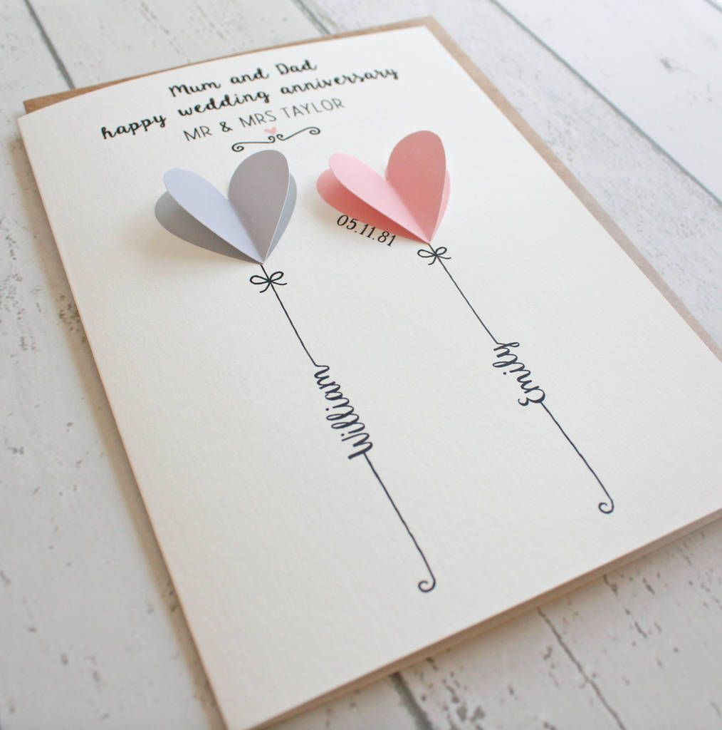 Personalised 3D Wedding, Anniversary, Engagement Card