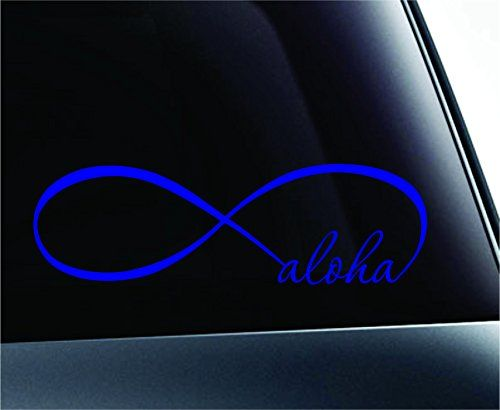 Infinity Aloha Symbol Decal Funny Car Truck Sticker Window Blue
