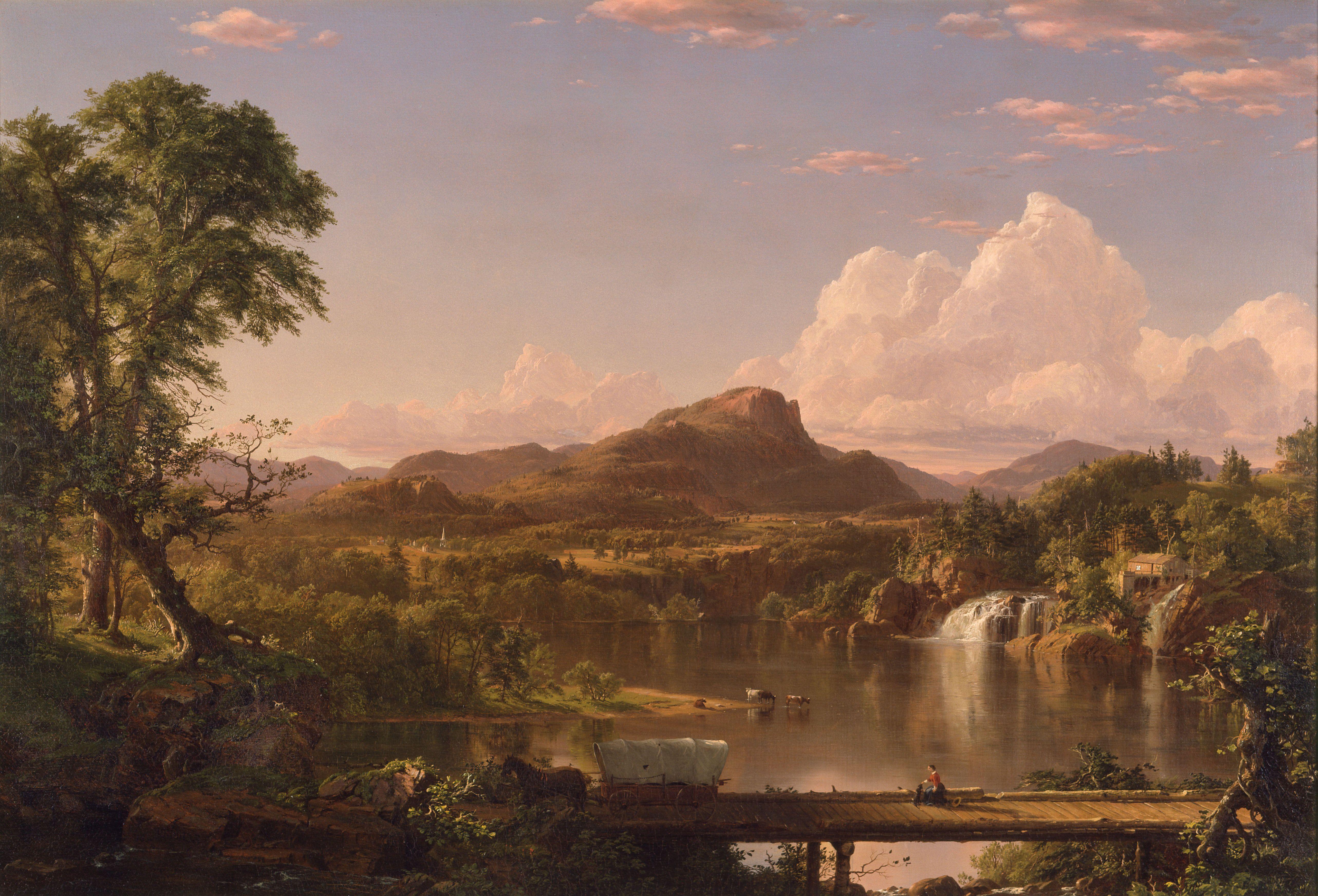 New England Scenery Frederic Edwin Church Landscape Landscape Paintings Hudson River School