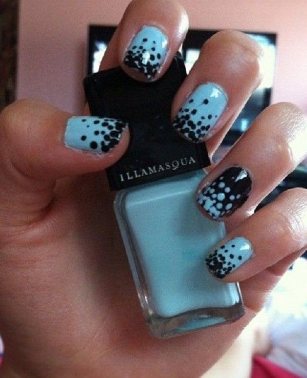 Black and blue polka dots nail art - 30 Adorable Polka Dots Nail Designs <3  <3 - 30+ Adorable Polka Dots Nail Designs In 2018 Nails Pinterest
