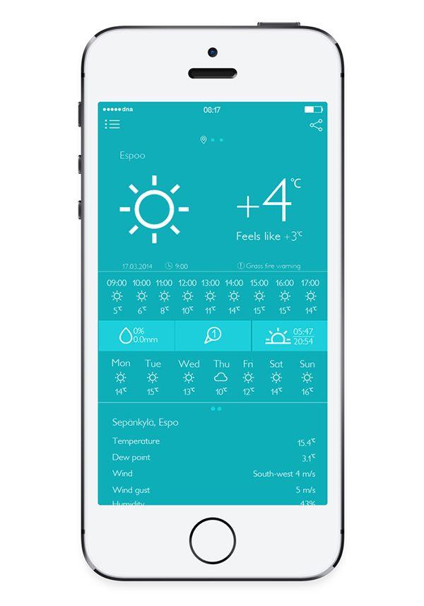 Local Weather APP Redesign on Behance | 날씨 | App, Weather, Logos