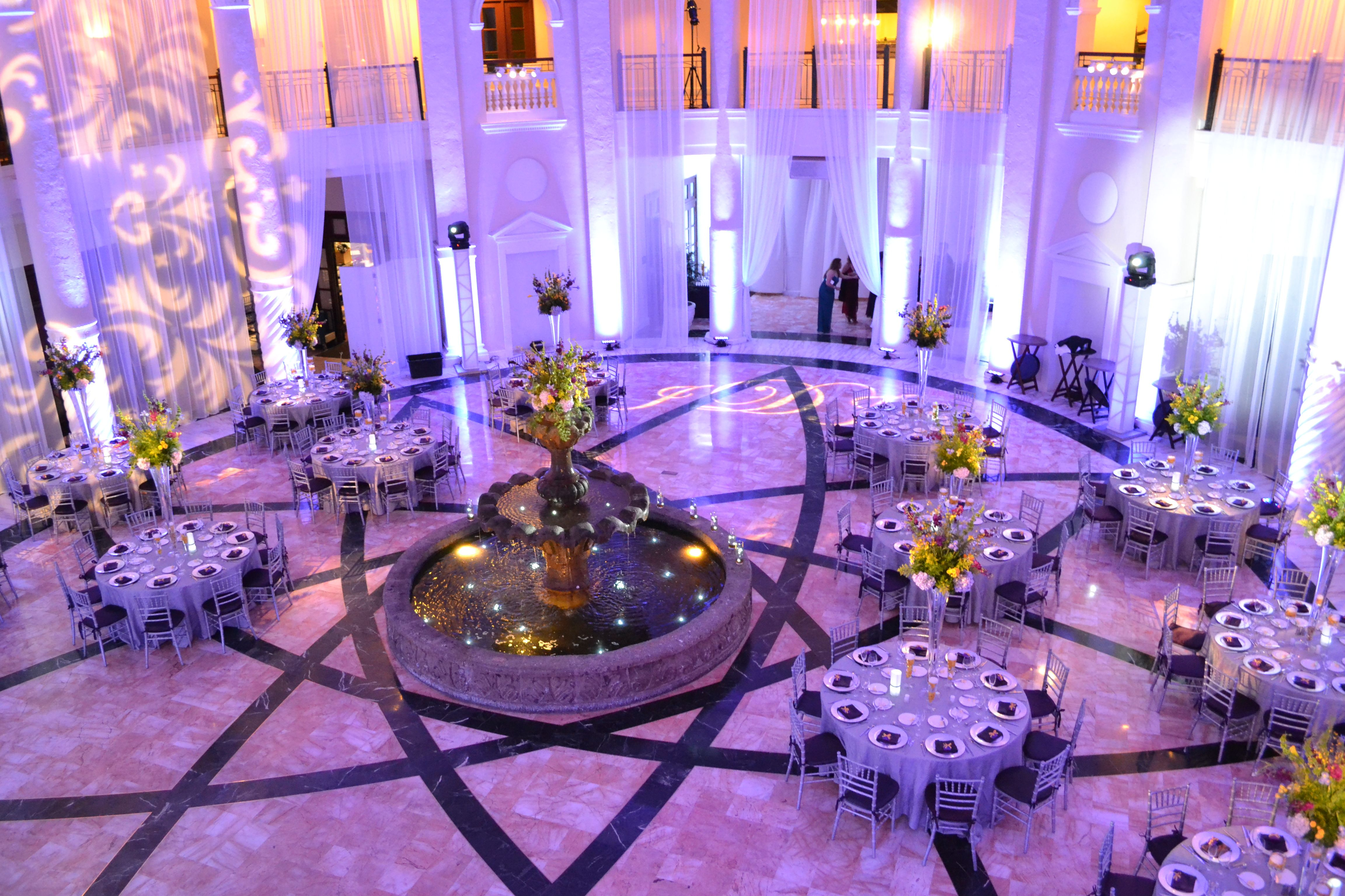 Wedding Lighting At The Westin Colonnade Of Coral Gables Transforms A Room Production