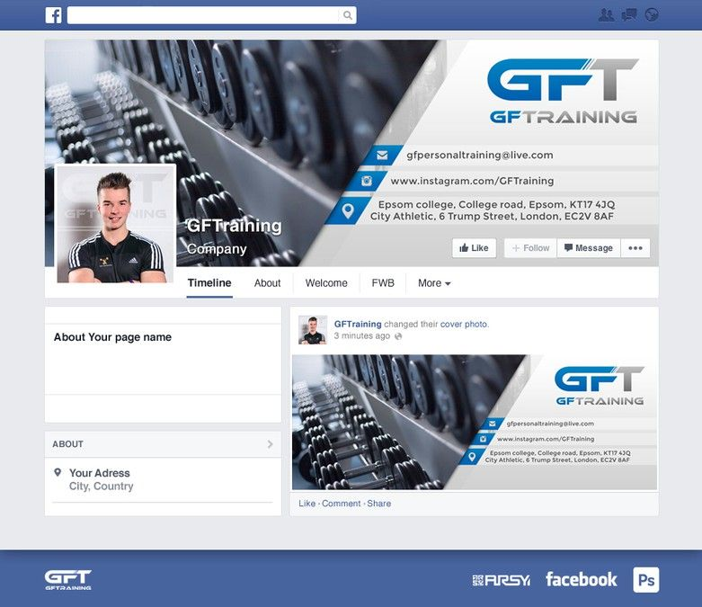Create a simple and effective facebook cover for an up and coming