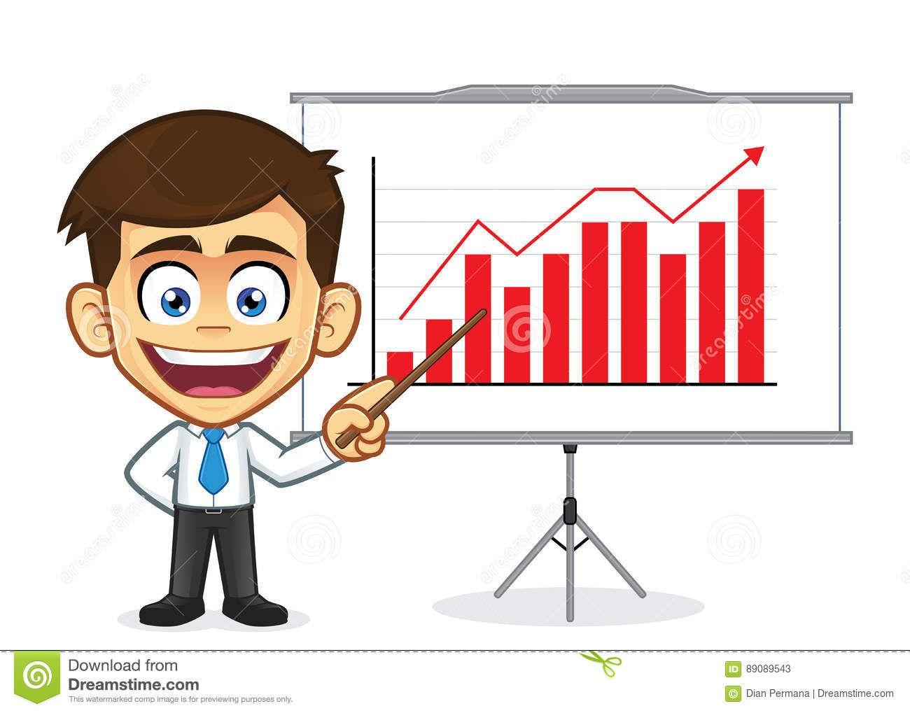 Businessman Doing A Presentation Business Man Vector