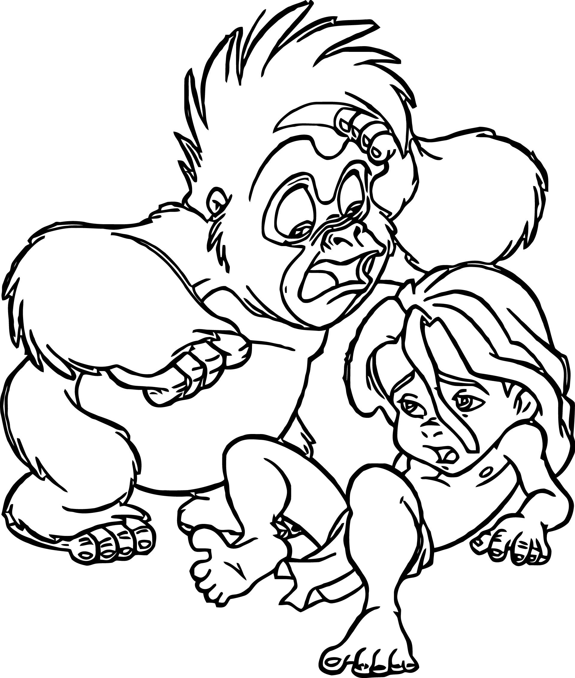 Young Tarzan Coloring Pages Coloring Pages Disney