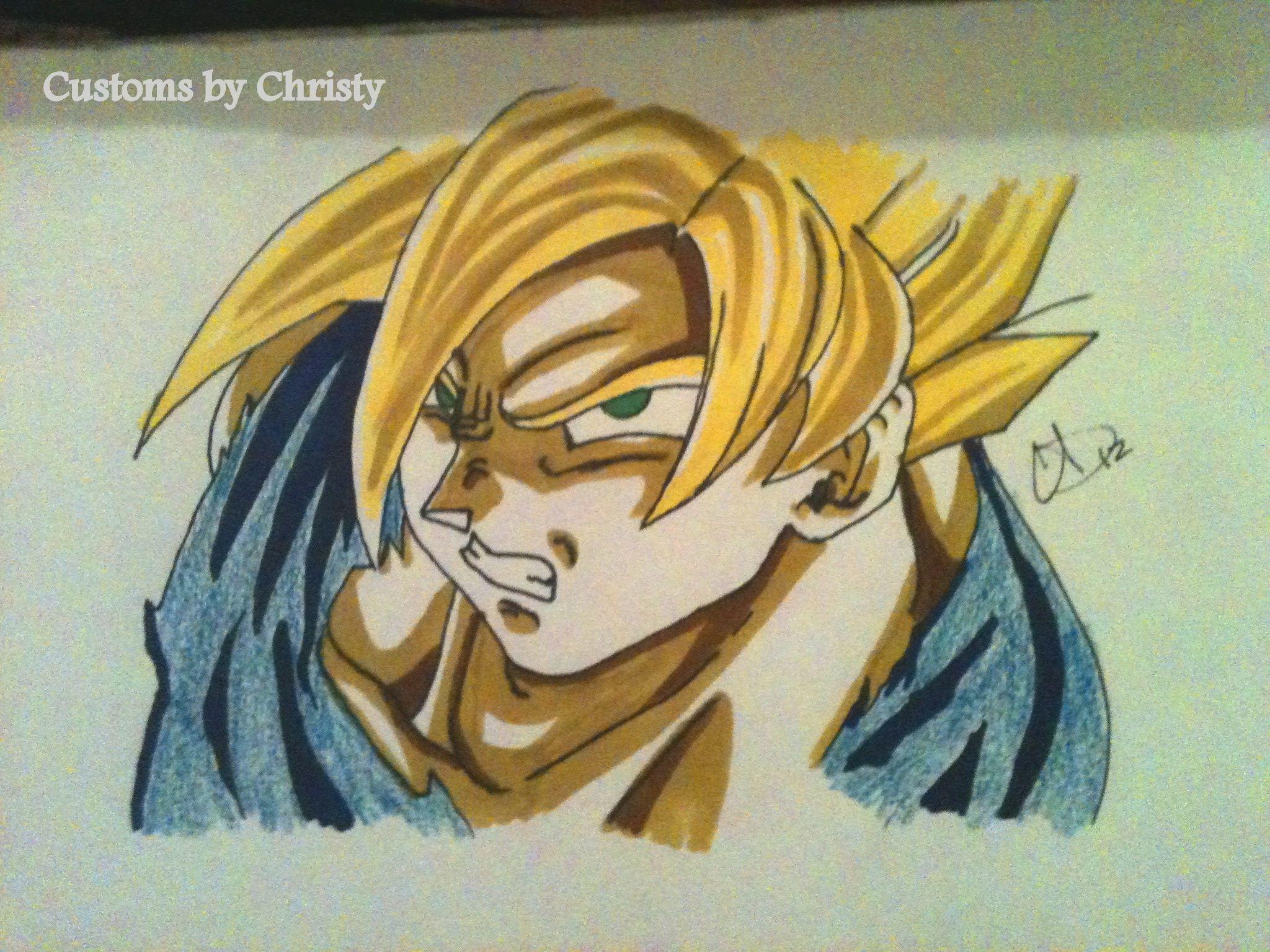 Dragon Ball Z art by Christy | dragon ball z nails & nail art design ...